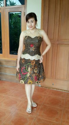 Batik dress my own creation with gajah oling batik