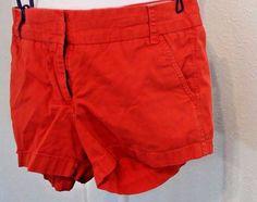 J Crew Women's Shorts Size 4 Broken In Chinos Orange Spring Date Vacation #JCrew #CasualShorts