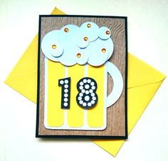 18th Birthday Card For Him Happy Birthday Card by JustaCards