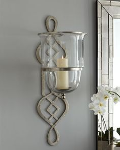 Wall candle holders uk home huge curling iron wall sconce valencia candle wall decor bring the beauty iron wall sconces for candles wall candle holder… Wall Candles, Candle Holder Wall Sconce, Mason Jar Wall Sconce, Candle Wall Sconces, Wall Candle Holders, Dining Room Walls, Wall Sconces, Candle Decor, Wall Sconce Hallway