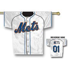 "MLB New York Mets Jersey Banner 34"""" x 30"""" - 2-Sided"