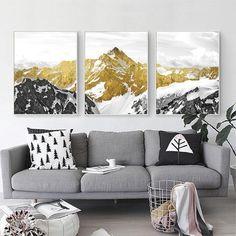 Golden Mountain Canvas Wall Art – Ivy and Wilde Canvas Wall Art, Interior Art, Landscape Wall Art, Fine Art Giclee Prints, Mountain Canvas, Mountain Wall Art, Abstract Wall Art, Canvas Painting, Landscape Art