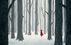 Little+Red+Riding+Hood++Illustration+Print+by+OlliesRoomArt,+$30.00