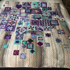 """Almost finished my """"Gypsy Wife""""quilt and a big thank you to Ronnie for the beautiful artistic quilting she added to it. #quilting #longarmquilting #gypsywifequilt"""