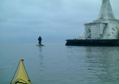 Running into Tom on his water-bike on a calm Port Stanley, Ontario afternoon...