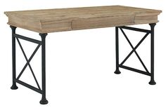 """Light Brown Shennifin 54"""" Home Office Desk by Ashley HomeStore"""