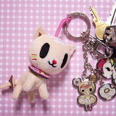 Use Biscottino as a key chain #tokidoki #donutella #biscottino #keychain