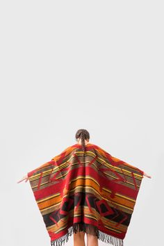 Aztec Wool poncho | Urbe on Etsy