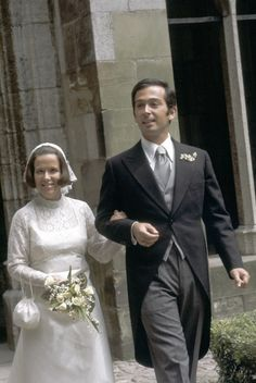 Princess Christina of the Netherlands and Jorje Guillermo, June 28, 1975... Not a good look.