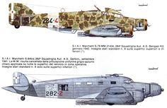 Savoia Marchetti SM 79 Sparviero silurante 1942 - Savoia Marchetti SM 84bis silurante 1941 Passenger Aircraft, Ww2 Aircraft, Fighter Aircraft, Military Aircraft, Luftwaffe, Reggio, Scale Models, Italian Air Force, Old Planes