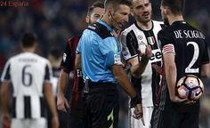El árbitro del Juventus-Milan, amenazado por un penalti polémico