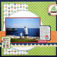 Ideas for Scrapbookers: Boys Will Be Boys Template/Sketch