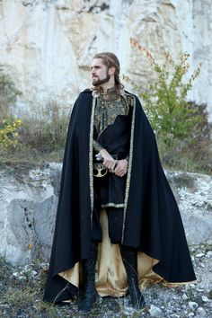 Knight of the West Cloak - medieval wool cloak, cape
