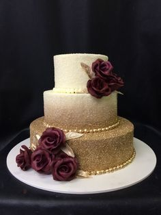 Fundraising idea: Bake sales are a great way to raise money for your cause or event. But don't forget about pasta feeds, edible arrangements, and cook… - New Site Beautiful Wedding Cakes, Beautiful Cakes, Amazing Cakes, Dream Wedding, Gold Wedding, Burgundy Wedding Cake, Quince Cakes, Quinceanera Cakes, Gold Cake