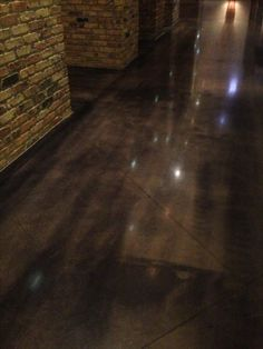 Stained Concrete - maybe for basement rooms?