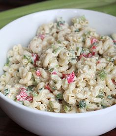 Delicious, Must-Have Macaroni Salad For Summer!!! Low calorie - from Skinny Mom