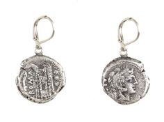 The perfect everyday earring - VINTAGE SILVER FIRA EARRINGS – Tat2 Designs