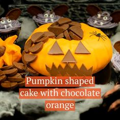 Halloween is near and there is no better way to celebrate than making this Terry's chocolate Pumpkin Cake for your Halloween Party. Our Terry's Chocolate Orange Pumpkin Shaped Cake is a showstopping centrepiece treat for any Halloween party. Decorated with orange icing, chocolate shaped for eyes, mouth and stalk and finally a fountain of terry chocolate mini's coming out the top of the pumpkin.