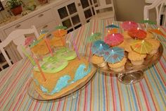 Simple cupcakes for swim party