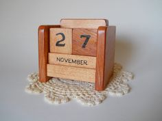 Perpetual Desk Calendar Wooden Block Desk by 2HeartsDesire on Etsy Proudly Made With Our Hands