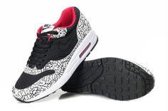new arrival 91055 d7426 Nike Air Max 1 Men s Running New Shoe Black White Red http