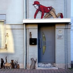 Levalet in Ostend, Belgium - street art