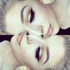 Brow color. Hair color