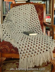 ABC Knitting Patterns.com -   Crocheted Prayer Shawl.   free pattern - easy