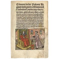 Jan Łaski (1456–1531) Com[m]une incliti poloni[a]e regni priuilegium co[n]stitutionu[m] [et] indultuu[m] publicitus decretorum approbatoru[m]q[ue] […]