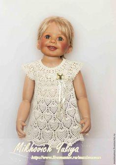 Ажурное платье-туника для девочки своими руками - Ярмарка Мастеров - ручная работа, handmade