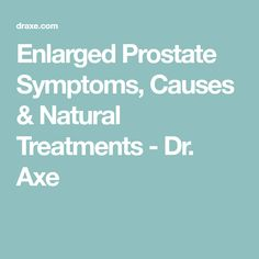 Natural Way To Cure Prostate Enlargement