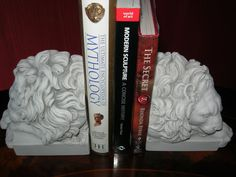 CHATSWORTH LION BOOKENDS decorative by PrimaDimoraSculpture