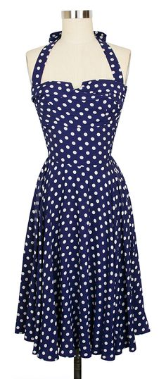 The Trashy Diva Trixie Dress in Big Polka - need this for July 4th