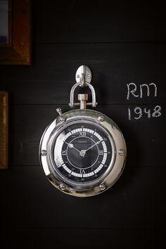 €119,00 1948 RM Clock silver #living #interior #rivieramaison