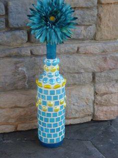 Mozaik kaplama şişe -