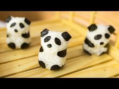 The panda bear is from China and obviously not for eating. This sushi panda bear on the other hand is created especially to eat. Panda Sushi, Healthy Meals For Kids, Kids Meals, Healthy Food, Yummy Food, Dragon Sushi, Sushi For Kids, Sushi Dishes, Sushi Food
