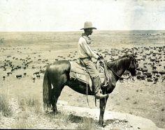 Circa 1908. A Texas cowboy / photo by Erwin E. Smith, Bonham, Texas. Photograph…