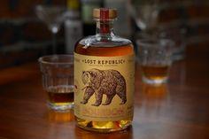 Lost Republic Bourbon - Dry Creek Distilling Co. (bourbon)   Design : Auston Design Group, Emeryville, Etats-Unis (septembre 2015)