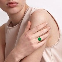 Bubble Ring Green Gold Xlarge