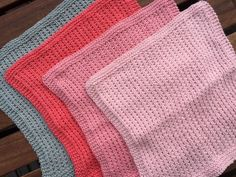 by GJ: DIY - Strikket karklud # 3 - Perlerib Tunisian Crochet, Knit Crochet, Homemade Potholders, Knitting Stitches, Knitting Patterns, Crochet Designs, Needle And Thread, Washing Clothes, Home Crafts