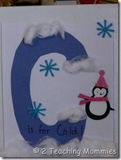 snow/winter theme ideas and the letter C