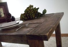 Directions to build this table--could use old barn boards which I already have!