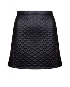 Quilted Love Heart Mini Skirt