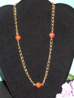Droplets of Orange by OurBeadedCharms on Etsy, $7.50
