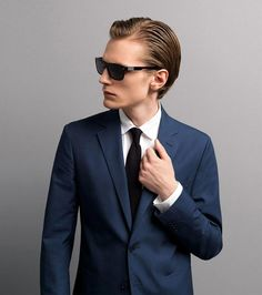 blue suit  valentino s/s 11    every man needs a navy blue suit in his closet!