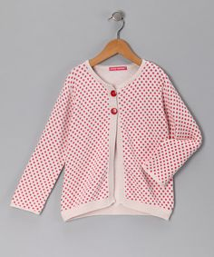 Pink Polka Dot Cardigan by Little Turtles
