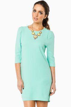 ShopSosie Style : Lavell Shift Dress in Mint