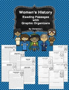 Use these reading passages and graphic organizers for Women's History Month or when teaching biographies. These are great for individual work or cooperative learning. They can be used for small group projects - have each group report on their famous woman to the rest of the class.  Includes:  • Helen Keller •Susan B. Anthony •Sacagawea •Amelia Earhart •Rosa Parks •Sally Ride