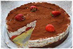 Erdbeer Schoko Split Torte     100 g Margarine   50 g Zucker     1 Min./St.4      2 Eier     30 Sek./St.4      130 g Mehl   1 TL Backpu...