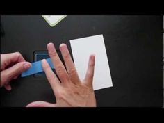Magical Masking Tape - YouTube video A tutorial on using tape to stamp color on card stock.